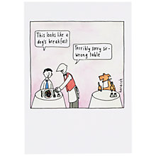 Buy Cath Tate Cards A Dog's Breakfast Greeting Card Online at johnlewis.com