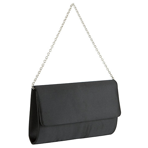 Buy John Lewis Satin Clutch Handbag, Black Online at johnlewis.com