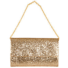 Buy John Lewis Glitter Clutch, Gold Online at johnlewis.com