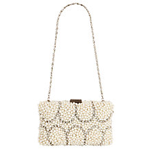Buy John Lewis Pearl Deco Clutch Handbag, Cream Online at johnlewis.com
