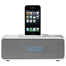 Buy John Lewis Moonlight Clock Radio iPod Dock, White Online at johnlewis.com