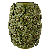 Buy Brissi Betty Barrel Vase, H25cm, Olive Online at johnlewis.com