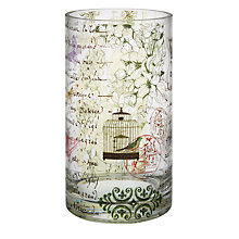Buy Brissi Bird Cylinder Vase, Medium Online at johnlewis.com