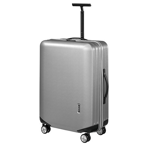 Buy Samsonite Inova 4-Wheel Medium Spinner Suitcase, Silver Online at johnlewis.com