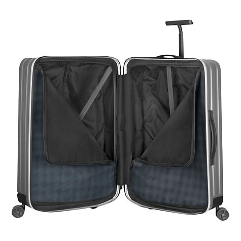Buy Samsonite Inova 4-Wheel Large Spinner Suitcase, Silver Online at johnlewis.com
