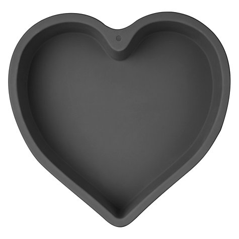 Buy John Lewis Silicone Heart Shaped Cake Mould, Grey Online at johnlewis.com