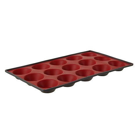 Buy John Lewis Silicone Tartlet Mould, 15 Cups, Grey Online at johnlewis.com