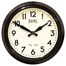 Buy Newgate 50s Electric Wall Clock, Dia.37cm Online at johnlewis.com