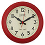 Newgate Electric Clock, Dia.22cm, Small, Red