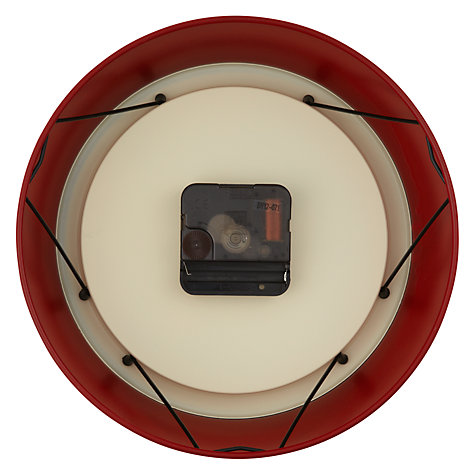 Buy Newgate Electric Clock, Dia.22cm, Small, Red Online at johnlewis.com
