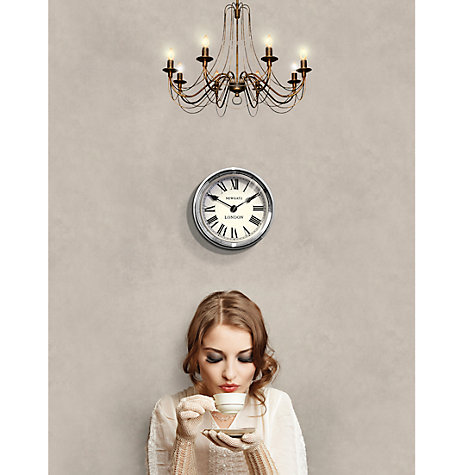 Buy Newgate World Time Wall Clock, Dia.22cm, London Online at johnlewis.com