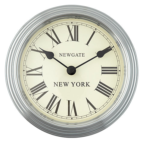 Buy Newgate World Time Wall Clock, Dia.22cm, New York Online at johnlewis.com