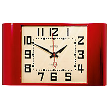 Buy Newgate Metro Wall Clock, Red Online at johnlewis.com