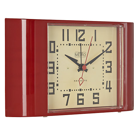 Buy Newgate Metro Alarm Clock, Red Online at johnlewis.com