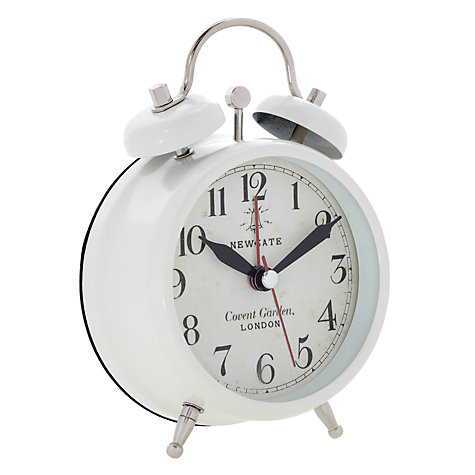 Buy Newgate Covent Garden Alarm Clock, Cream, Small Online at johnlewis.com