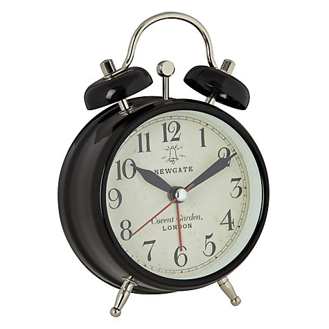 Buy Newgate Covent Garden Alarm Clock, Black, Small Online at johnlewis.com