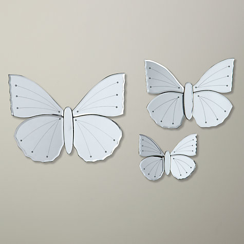 Buy John Lewis Butterfly Mirror, Set of 3 Online at johnlewis.com