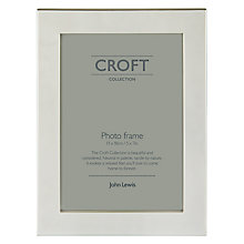 "Buy John Lewis Silver Plated Box Photo Frame, 5 x 7"" (13 x 18cm) Online at johnlewis.com"