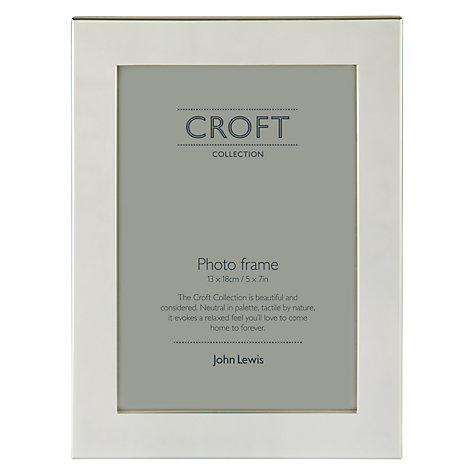 "Buy John Lewis Croft Collection Silver Plated Box Photo Frame, 5 x 7"" (13 x 18cm) Online at johnlewis.com"