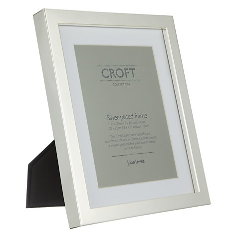 "Buy John Lewis Croft Collection Silver Plated Box Photo Frame, 6 x 8"" (15 x 20cm) Online at johnlewis.com"