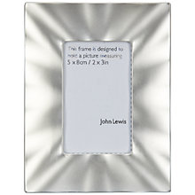 "Buy John Lewis Pearl Effect Photo Frame, Silver, 2 x 3"" (5 x 7.5cm) Online at johnlewis.com"