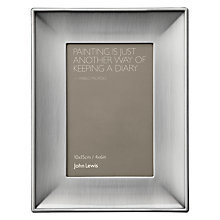 "Buy John Lewis Pewter Photo Frame, 4 x 6"" (10 x 15cm) Online at johnlewis.com"