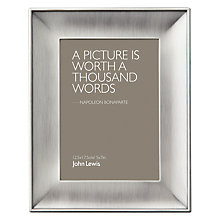 "Buy John Lewis Pewter Photo Frame, 5 x 7"" (13 x 18cm) Online at johnlewis.com"