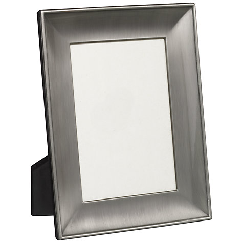 "Buy John Lewis Pewter Photo Frame, 5 x 7"" (12.5 x 17.5cm) Online at johnlewis.com"