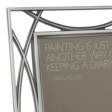 "Buy John Lewis Pewter Tone Photo Frame, 4 x 6"" (10 x 15cm) Online at johnlewis.com"