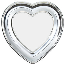 "Buy John Lewis Heart Photo Frame, Silver, 2.5 x 2.5"" (6 x 6cm) Online at johnlewis.com"