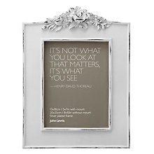"Buy John Lewis French Photo Frame, White, 5 x 7"" (13 x 18cm) Online at johnlewis.com"