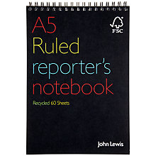 Buy John Lewis Recycled Reporters Notebook Online at johnlewis.com