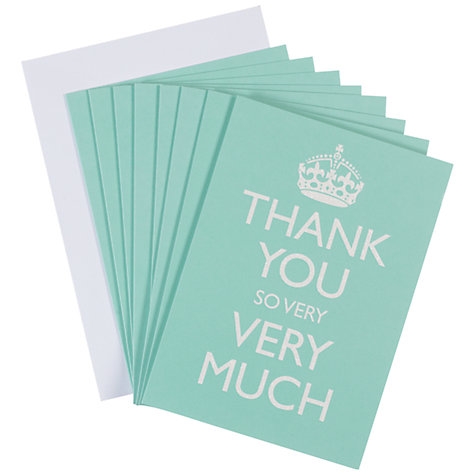 Buy Bluebell 'Thank You So Much' Notecards, Pack of 8 Online at johnlewis.com