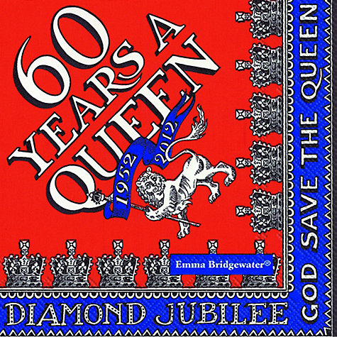 Buy Diamond Jubilee Cocktail Napkins, Pack of 20cm Online at johnlewis.com