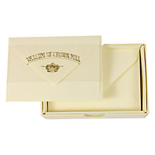 Buy Crown Mill Mini Cards & Envelope, Cream, Pack of 20 Online at johnlewis.com