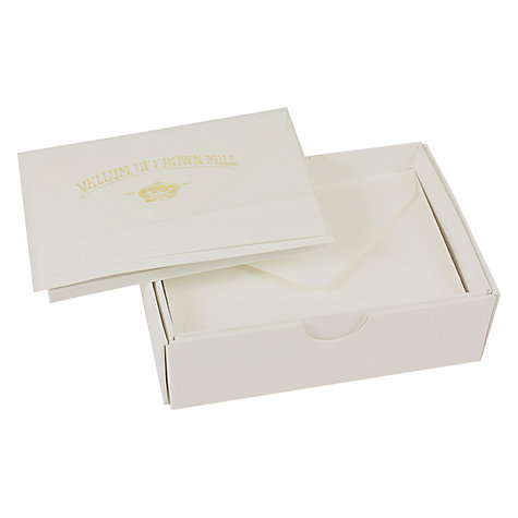 Buy Crown Mill Mini Cards & Envelope, White, Pack of 20 Online at johnlewis.com