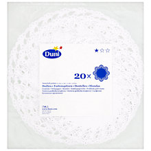 Buy Duni Doilies, White, Pack of 20 Online at johnlewis.com