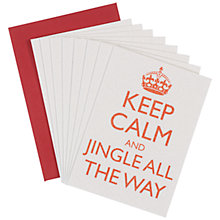 Buy Bluebell Keep Calm and Jingle All The Way Notecards, Pack of 8 Online at johnlewis.com