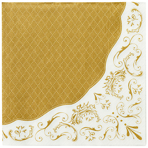 Buy Talking Tables Party Porcelain Napkins, Pack of 20, Gold Online at johnlewis.com