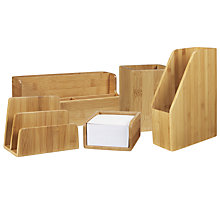 Buy John Lewis Bamboo Desk Accessories Online at johnlewis.com