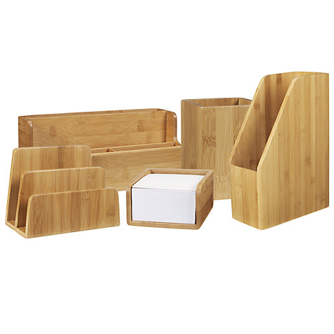 Buy John Lewis New Bamboo Desk Organiser Online at johnlewis.com
