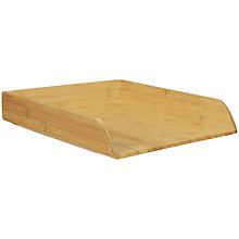 Buy John Lewis New Bamboo File Tray Online at johnlewis.com