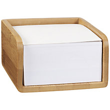 Buy John Lewis New Bamboo Memo Holder Online at johnlewis.com