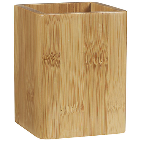 Buy John Lewis New Bamboo Pen Pot, Natural Online at johnlewis.com
