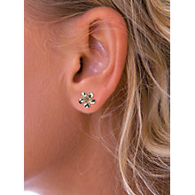 Buy Nina B 9ct Yellow Gold Flower Stud Earrings, Gold Online at johnlewis.com