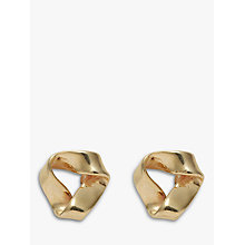 Buy Nina B 9ct Yellow Gold Open Triangle Stud Earrings, Gold Online at johnlewis.com