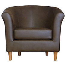 Buy John Lewis Flora Leather Armchair, Chocolate Online at johnlewis.com