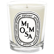 Buy Diptyque Mimosa Scented Mini Candle, 70g Online at johnlewis.com