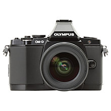 "Buy Olympus OM-D E-M5 Compact System Camera with 12-50mm Lens, HD 1080p, 16.1MP, 3"" OLED Screen with 16GB + 8GB Memory Card Online at johnlewis.com"