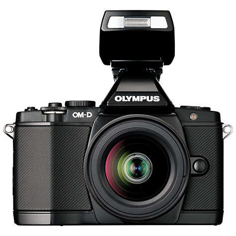 "Buy Olympus OM-D E-M5 Compact System Camera with 12-50mm Lens, HD 1080p, 16.1MP, 3"" OLED Screen Online at johnlewis.com"